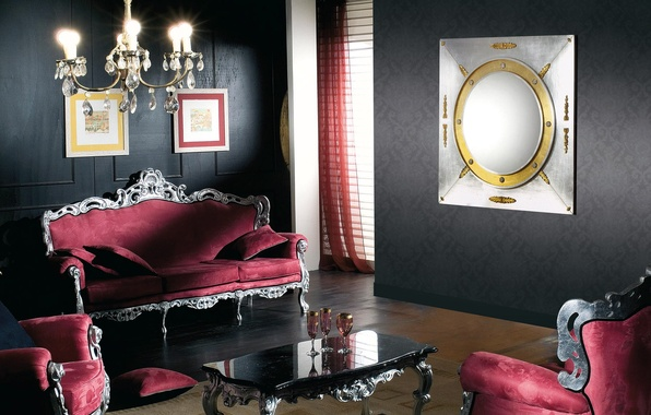 Picture style, room, interior, chair, chandelier