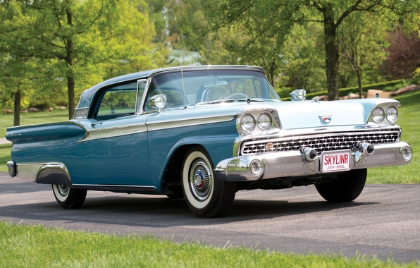 Picture Ford, Ford, 500, the front, Hardtop, 1959, Fairlane, Skyliner, Retractable, Fairlane, Skyliner