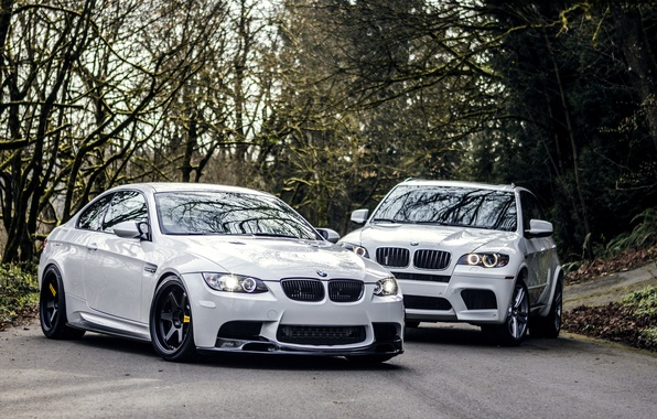 Picture Road, BMW, BMW, Lights, White, White, E92, X5M, E72