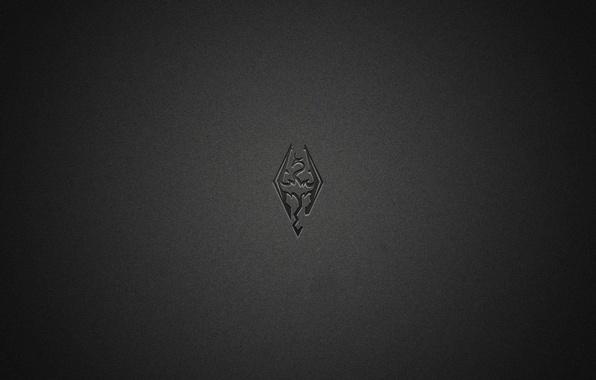 Picture dragon, minimalism, black