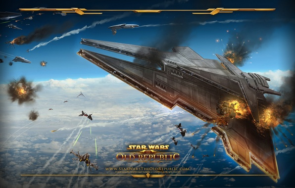 Wallpaper Dogfight Star Wars The Old Republic The Imperial Ship Images For Desktop Section Igry Download