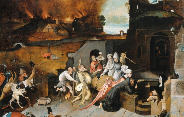Picture picture, Hieronymus Bosch, mythology, The Temptation Of St. Anthony The Hermit