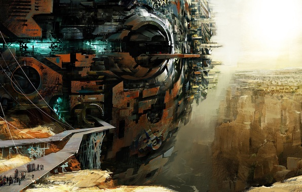 Picture Future, People, Ship, Future, The World Of The Future, Base