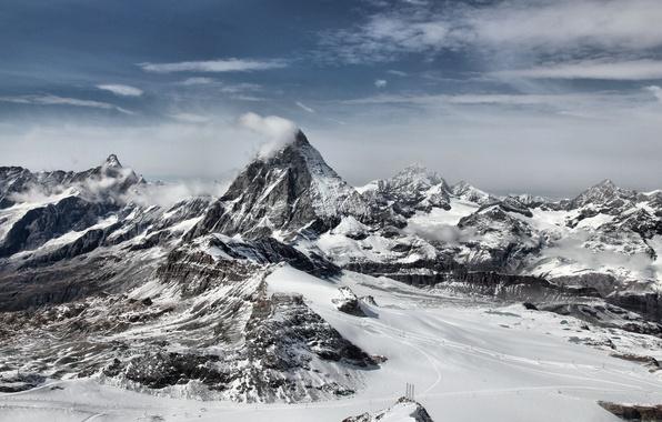 Picture winter, snow, mountains, rocks, landscapes, view, photos, places