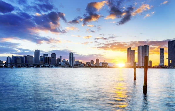 Picture sunset, florida, Miami, FL, miami