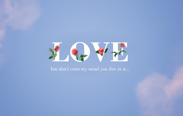 Picture the sky, love, rose, love, sky, roses