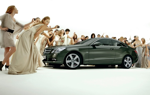 Picture girls, coupe, Mercedes-Bens, E-Class