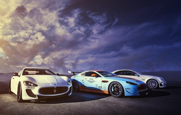 Picture Aston Martin, Maserati, Mercedes-Benz, DBS, GranTurismo, MC Road