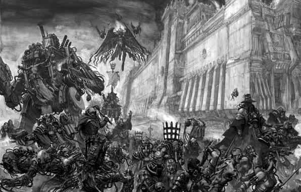 Picture hunting, sisters, hunters, warhammer 40k, the Inquisition, karl kopinski, Adeptus Soritas, battle, on store