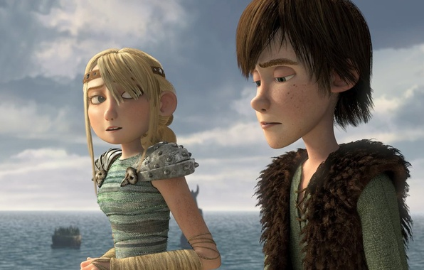 Picture Hiccup, How to train your dragon, Astrid