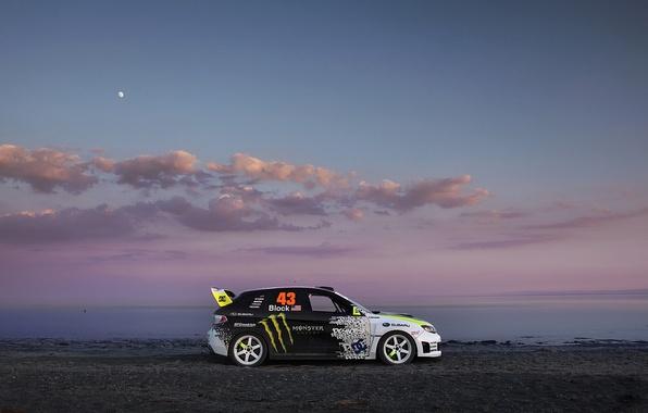 Picture shore, the evening, Subaru, Impreza