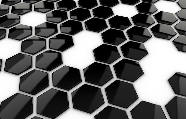 Picture tile, hexagon