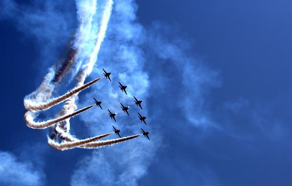 Picture holiday, show, parade, aircraft, Airily show, air, parade