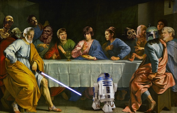 Picture Star Wars, heroes, Star wars, the trick, the last supper