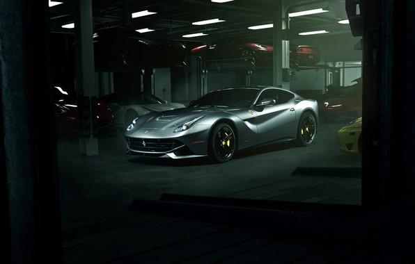 Picture supercar, ferrari, garage, f12, f12berlinetta