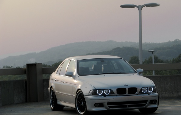 Picture lights, BMW, BMW, silver, angel eyes, Boomer, E39, E39, Silver, Angel Eyes