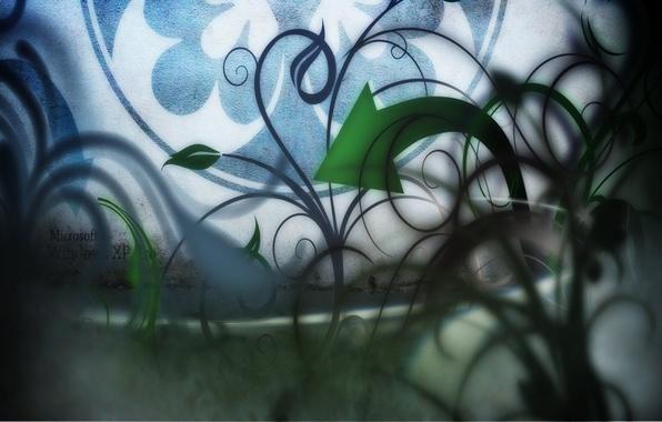 Photo wallpaper desktop, abstractia, curls, arrows, music