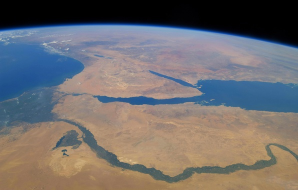 Picture river, Earth, Africa, The red sea, The Sinai Peninsula, Neil, The Mediterranean sea