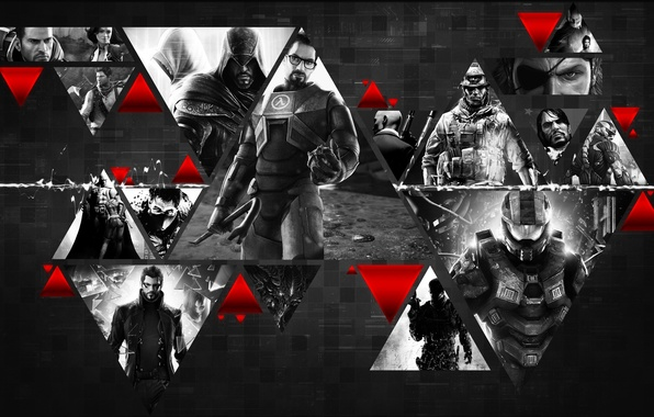 Picture Hitman, Crysis, Halo, Assassins Creed, Half-Life, Games, Mass Effect, Deus Ex, Batman Arkham City, Battlefield …
