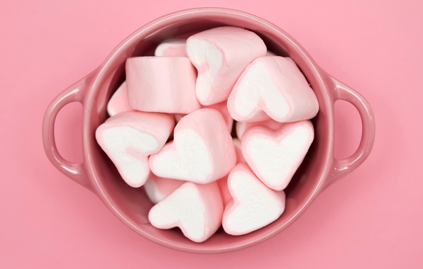 Picture candy, Cup, Pink cubed