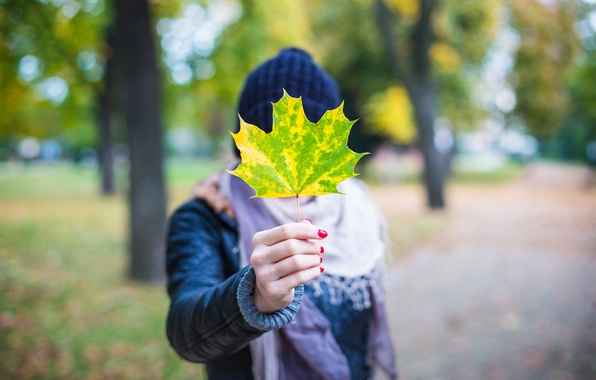 Picture autumn, sheet, leaf, manicure