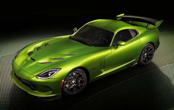 Picture auto, green, tuning, Dodge, supercar, Viper, SRT