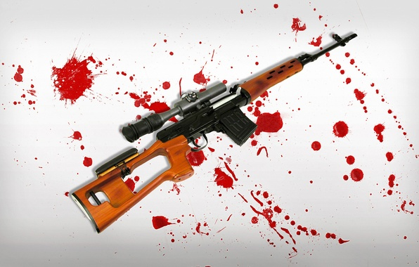Picture background, blood, spot, SVD, rifle, sniper, sniper, Dragunov