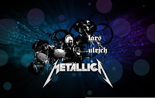 Photo Wallpaper Rock Metallica Drummer Lars Ulrich