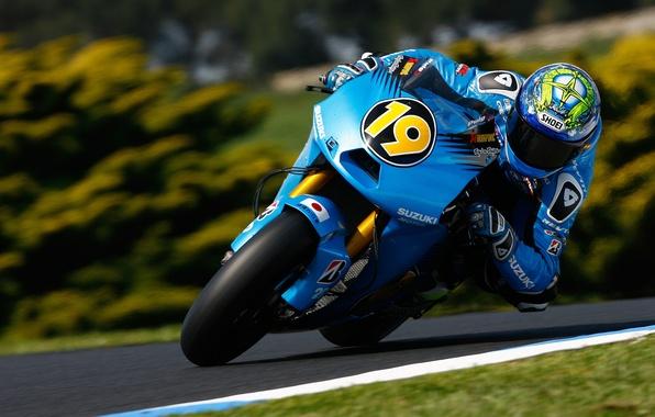Picture Sport, Turn, Motorcycle, Racer, Suzuki, MotoGP