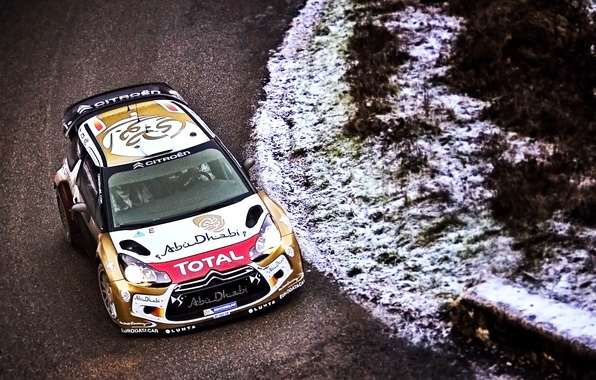 Picture Winter, Road, Sport, Machine, Speed, Citroen, Citroen, DS3, WRC, Rally, Rally, Cold