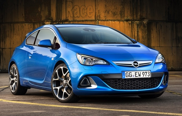 Picture blue, background, Opel, Opel, drives, the front, Astra, hatchback, OPS, OPC, Astra