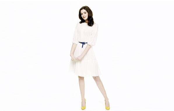 Picture girl, face, background, hair, dress, actress, legs, beauty, Anne Hathaway, Anne Hathaway