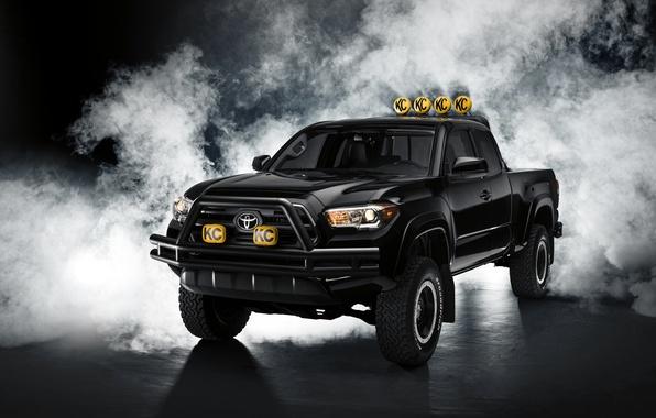 Picture black, Toyota, pickup, Black, Toyota, Tacoma, Tacoma