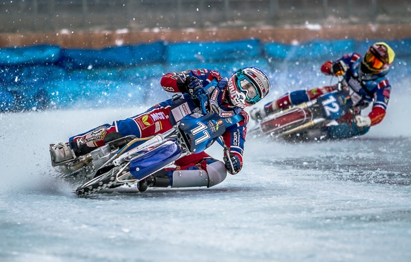 Picture sport, bike, race, Ice Speedway