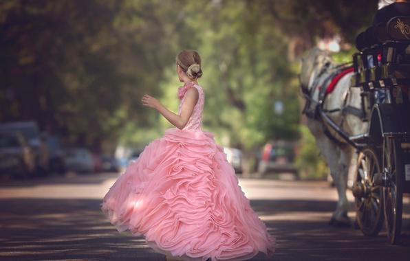 Picture street, dress, girl, Julia Altork, The Carriage