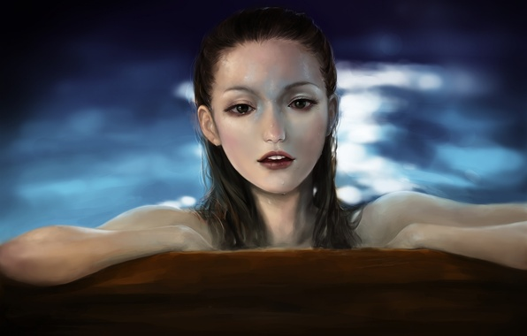 Picture water, girl, mermaid, art, pirates of the caribbean, gemma ward, pixiv, jakurin