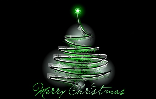 Picture tree, garland, congratulations, merry christmas