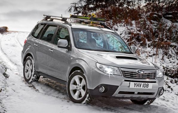 Picture Subaru, Wallpaper, Jeep, Japan, Car, Auto, Subaru, SUV, UK-Spec, Forester, Forester, snow, winter, England, Japan, …