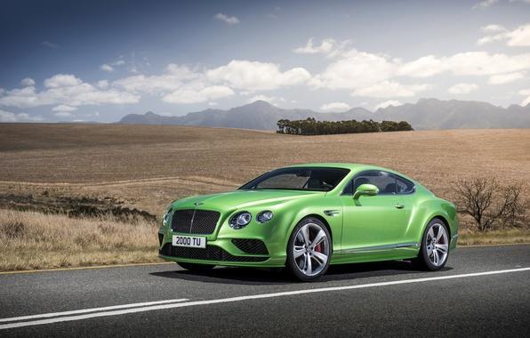 Picture photo, Bentley, Continental, Car, GT Speed, 2015, Green, Metallic, Luxury