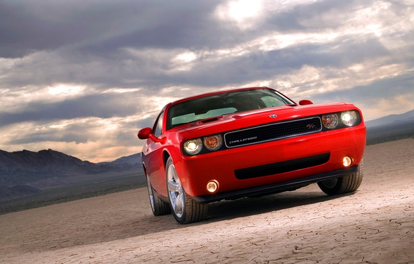 Picture auto, red, Dodge, Challenger