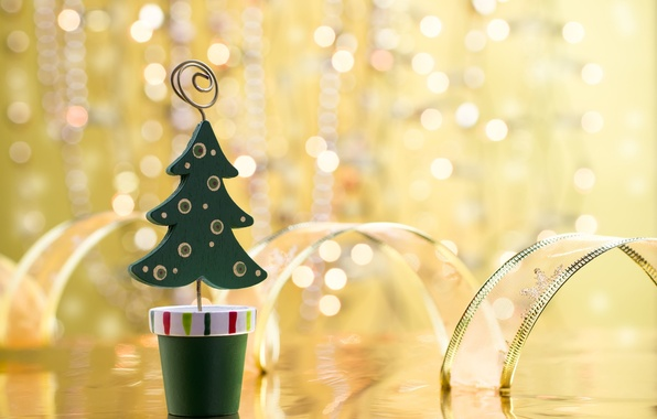 Picture background, holiday, Wallpaper, toy, tree, new year, tape, christmas, new year, widescreen, holidays, bokeh, herringbone, …