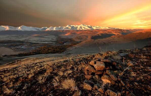 Picture autumn, Altay, The North-Chuyskiy ridge