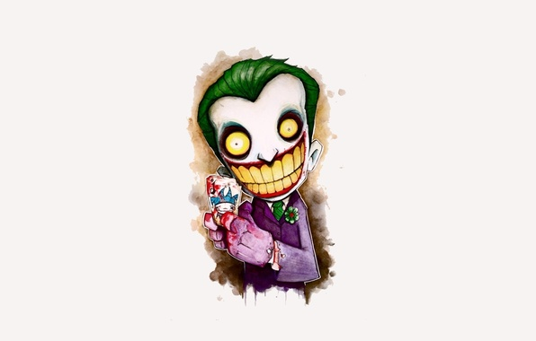 Picture smile, batman, Joker, figure, map, Batman, joker