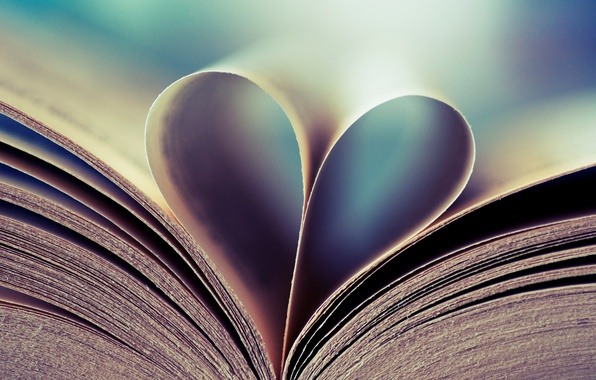 Picture background, mood, Wallpaper, heart, pictures, book, page