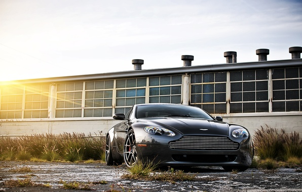 Picture black, aston martin, vantage, cars, auto, cars walls, Wallpaper HD