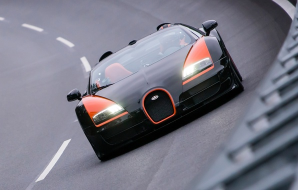 Picture background, turn, Bugatti, Bugatti, Veyron, Veyron, supercar, the front, hypercar, Grand Sport, Vitesse, 16.4, World ...