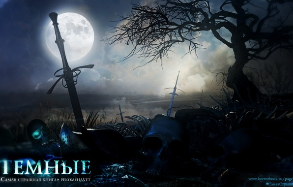 Photo wallpaper skull, sword, fantasy, witchcraft, the middle ages