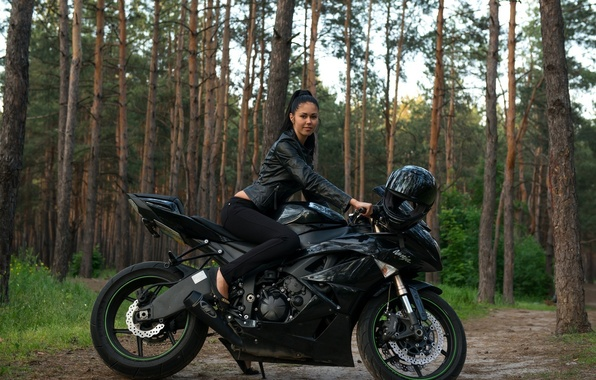Picture model, Girl, motorcycle, Macy B