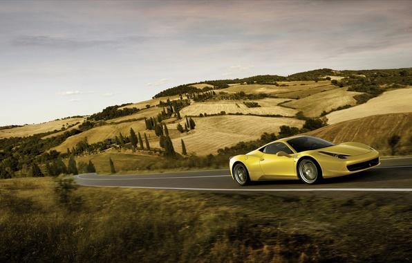 Picture road, speed, ferrari, 458, italia