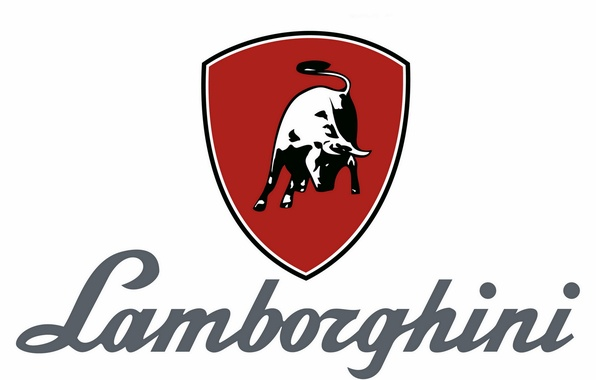 Picture background, Lamborghini, logos, bull